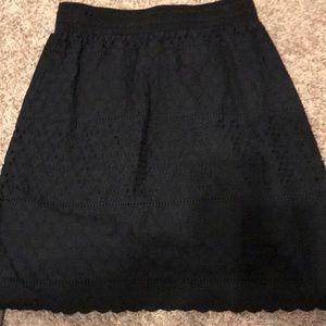 Isaac Mizrahi alive cotton eyelet skirt